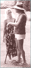 Annie Rogers with Adi Da Samraj